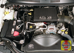 Illustration of step: The battery is located at the front of the engine bay - step 1