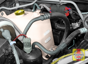 Illustration of step:  8 All vehicles covered by this manual are equipped with a pressurized coolant recovery system - Engine coolant - step 12