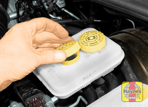 Illustration of step:  19 The fluid inside can be checked looking at the translucent plastic reservoir - Brake and clutch fluid - step 23