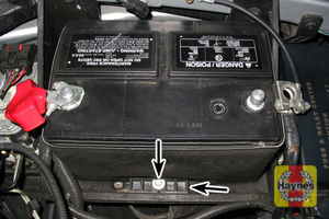Illustration of step: Check that the battery is generally secure - step 4