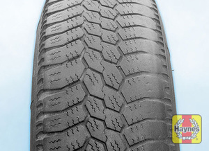 Illustration of step: Uneven tire wear is caused by unbalanced wheels, worn/broken suspension parts, or incorrect wheel alignment  - step 3