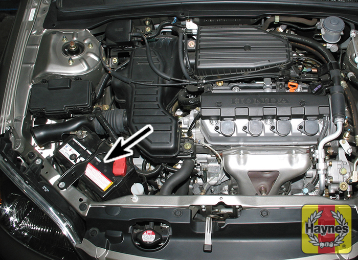 Illustration Of Step: The Battery Is Located At The Front Of The Engine Bay